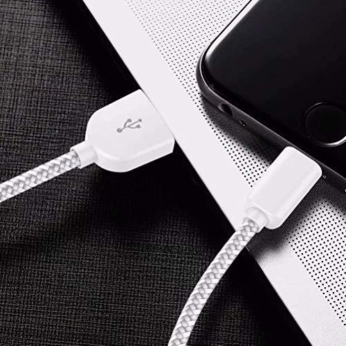 WUYA Phone Ladekabel MFi Zertifiziert Phone Schnellladekabel Lightning Kabel [5Stück 1/1/2/2/3M] USB Ladekabel Nylon Langes Phone Kabel für Phone 11 Pro Max XR XS X 10 8 7 6 6S Plus 5 SE, iPad Air…