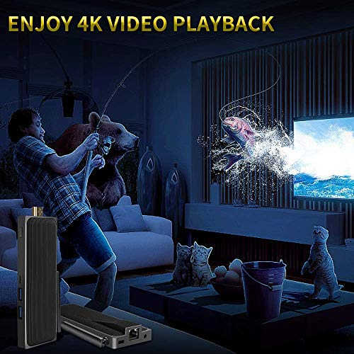 Fanless PC Stick Intel Celeron N3350 Windows 10 Pro Computer Stick 4GB DDR4 64GB Support 4k@30Hz Gigabit Ethernet,HDMI, BlueTooth4.2