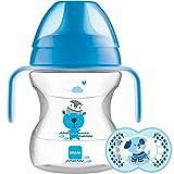 MAM Learn to Drink Cup Animal Friends 190ml - Vaso de aprendizaje (Color: Azul)