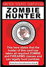 Zombie Hunter Necklace Fun Fake ID License