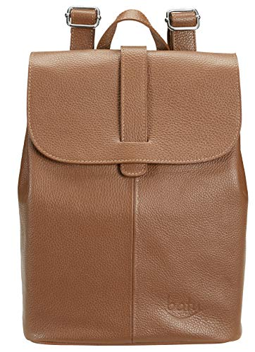 Leder Rucksack Damen BATU | Reise-Handgepäck | Backpack Freizeit oder Arbeit und Laptop | Schulrucksack | City-Rucksack wasserabweisend | Handmade in Italien |