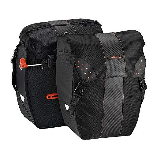Ibera Fahrradtasche PakRak Clip-On Schnellentriegelung Allwetter-Fahrradtaschen, inkl. Regenhülle