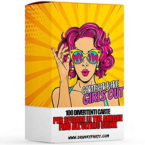 Drunky Party - Girls out! Addio al Nubilato Gadget, Giochi Alcolici per Ragazze, Giochi da Tavolo per Adulti, Carte da Gioco per Festa, Gioco Alcolico, Idee Regalo per Donna e Migliore Amica