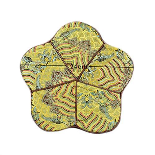 Goddness Bar Tapis de Plateau de thé en Tissu décoratif Coaster Retro Pad Tapis (Style 10)