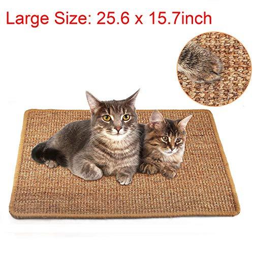 Liyahog Cat Scratcher Mat Natural Sisal Scratching Pad AntiSlip Cat Scratch Rug Sleeping Carpet for Cat Grinding Claws amp Protecting Furniture