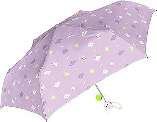 女の子 折りたたみ傘 キッズ傘 50cm 手開き 子供用 グラスファイバー リフレクター付き 折傘 レイニーキャット