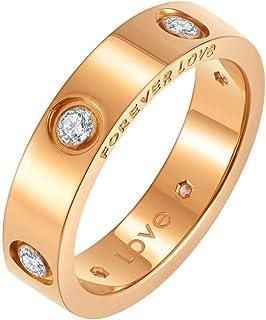 خواتم حب وعود مطلية بالذهب عيار 18 قيراط للنساء من نيريوس | خواتم خطوبة الزفاف