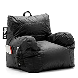 Big Joe Dorm Bean Bag Chair, Stretch Limo Black -