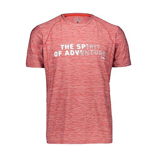CMP Elastisches Melange T-Shirt mit Sonnenschutz UPF 40 Homme, Brik Mel, 50