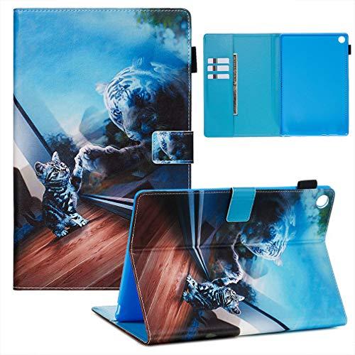LMFULM® Hülle für Huawei MediaPad M5 (10,8 Zoll) PU Lederhülle Smart Hülle Cover Ständer Schutzhülle Flip Cover Spiegel
