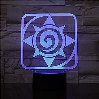 Lampara LED Blizzard Hearthstone Logo Cambia Color USB Luz Nocturna