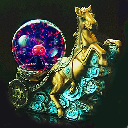 YAOJIA Plasmakugel Form eines laufenden Pferdes Neuheit Tischlampe Berühren Sie das elektrische Nachtlicht Partyzauber Plasma-Licht Mode-Heimtextilien Kreatives Geschenk