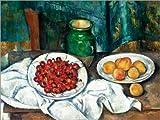 Poster 40 x 30 cm: Kirschen und Pfirsiche von Paul Cézanne