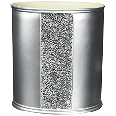 Popular Bath  Sinatra Silver  Waste Basket