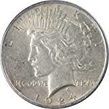 1924 $1 Peace Silver Dollar US Coin XF EF Extremely Fine