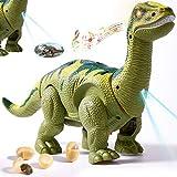 HERSITY Dinosaurios Robot Electronico Figura con Luz y Sonido, Efecto de Proyección, Poner Huevos Juguete Regalos para Niños Niñas 3 4 5 Año