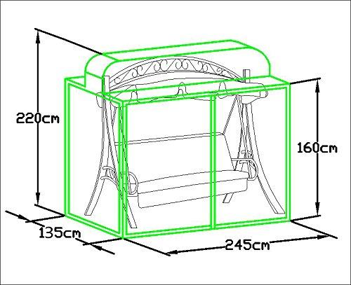 Loywe stabile Schutzhülle für Hollywoodschaukel Gartenschaukel für (LW51) LWG112New