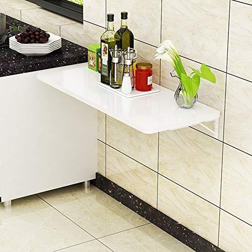 ZfgG składany stolik ścienny, stół kuchenny, montowany na ścianie, biurko, do ściany lub ściany, kolor biały, wymiary: 70 x 40 cm)
