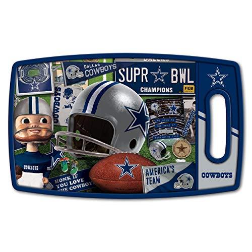 YouTheFan NFL Dallas Cowboys Retro Series Cutting Board, Medium