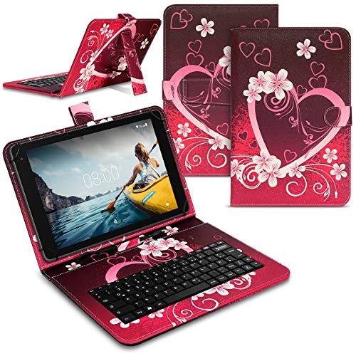 Tablet Hülle kompatibel für Medion Lifetab E10910 E10911 Tasche Tastatur Keyboard QWERTZ Schutzhülle Cover Standfunktion USB Schutz Hülle, Farben:Motiv 3
