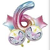 SMAQZ Ballon Anniversaire Licorne, Jeu de Ballon dégradé Ballon décoration Anniversaire.F