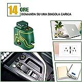 Immagine 1 livella laser verde popoman 1x360