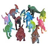 Rhode Island Novelty 3 Inch Mini Dinosaurs, One Dozen Assorted
