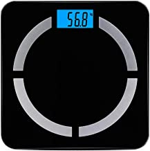 LIUXIN Electronic Scale,Smart Body Fat Scale -21 Essential Body Composition Analyser, Auto Recognition, Track & Record Data Up Via Android & iOS App (Color : Black)