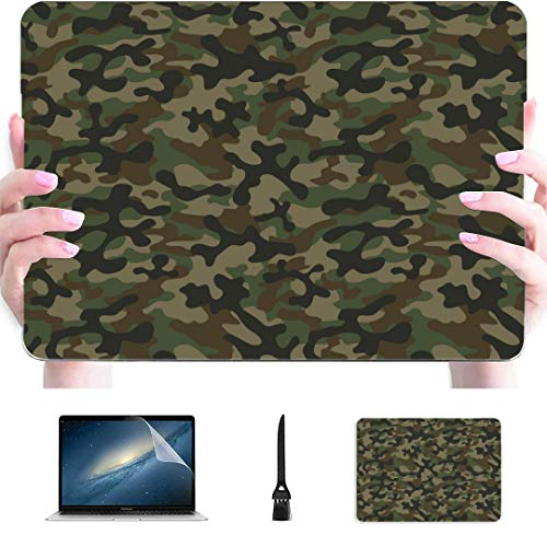 Macbook Pro Cover per laptop Texture Mimetico militare Ripetizioni Esercito Plastica Guscio rigido Compatibile Mac Air 13'Pro 13' / 16'2018 Custodia protettiva per Macbook Air per Macbook versione