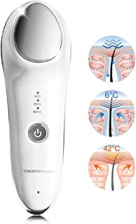 TOUCHBeauty Hot Cool Facial Massager - Handheld Sonic Vibration Skin Rejuvenating Device for Smoother Tighter Face, Reliev...