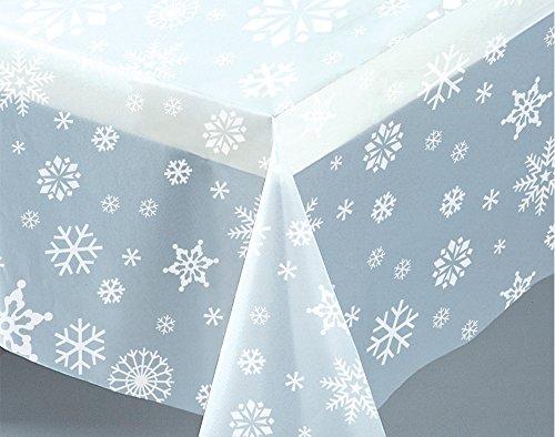 Plastic Clear Sneeuwvlok Kerst Tafelkleed, 7ft x 4.5ft