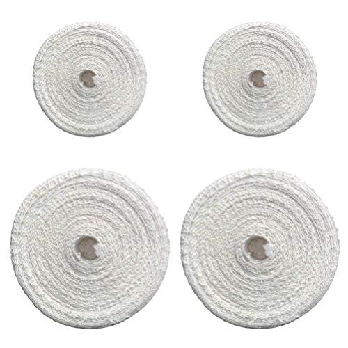 UPKOCH - 4 rollos de red de carne, rollo de jamón, calcetín elástico red de carne de carne de salchicha de algodón para envolver copas de asado.