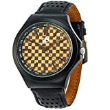 Z&S Mens Watches Casual Classy Quartz Analog - Fashion Minimalist Wrist Watch for Men with Leather Strap Brown