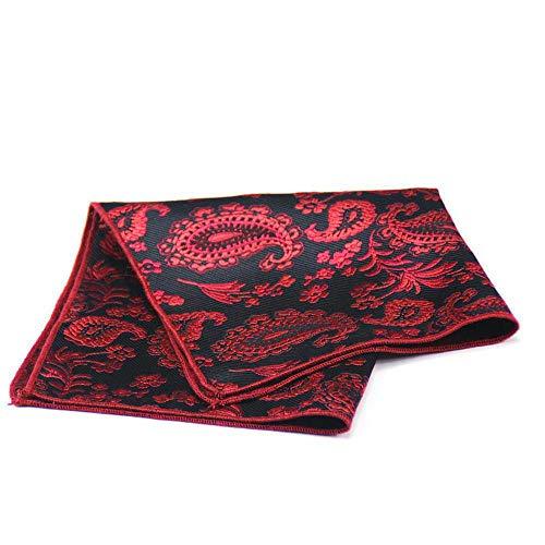 SKYyao Pañuelo de Bolsillo Patrón de la Nuez de la India Vestido de Traje de Bolsillo Toalla Banquete Boda Bufanda de Nylon Seda 25 cm * 25 cm