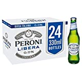 Peroni Libera - Non-Alcohol Lager Alternative - 330cl x 24 Bottles in a Pack - 0.0% ABV - Light Bodied, Zero Alcohol - Refreshing, Bitter & Crisp - Brewed in Italy