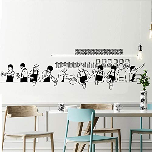 Olivialulu Speciale Melk Thee Koffie Proces Figuur Portret Shop Muur Muur Blackboard Bar Decoratie Glas Home Sticker