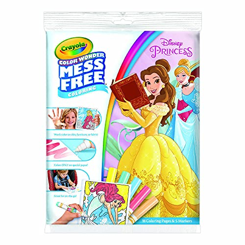 Crayola Wonder Disney Princess Pages Mess Free Coloring, Gift for Kids, Age 3, 4, 5, 6