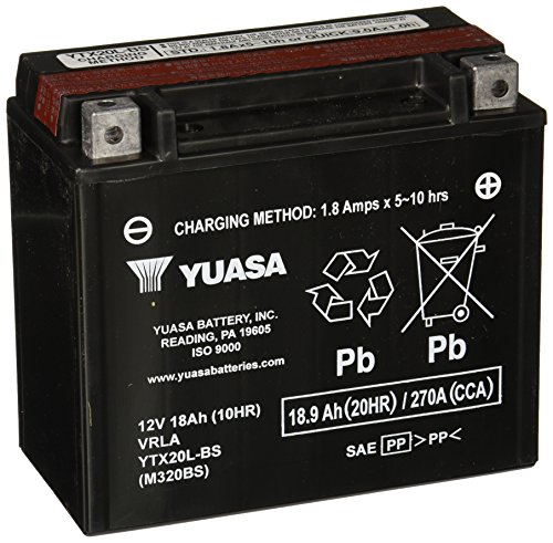 Our #2 Pick is the Yuasa YUAM320BS YTX20L-BS ATV Battery
