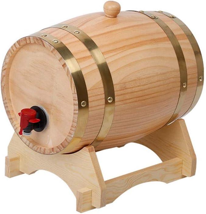 YINGJI Barril de Roble Roble Envejecimiento Barril Barril De Roble Barril De Madera Dispensador de Vino, para elaborar Cerveza Vino o almacenar Cerveza Vino Blanco Whisky Brandy