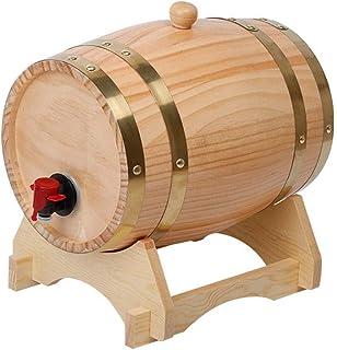 Tonneau à vin en Bois Tonneau de vieillissement en chêne Tonneau en Bois de chêne Distributeur de vin, pour Le Brassage du...