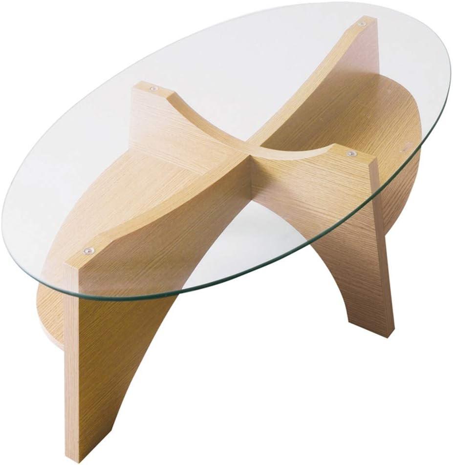 Chunlan Japanese-Style Mini Solid Wood Oval 5 Super sale ☆ popular Temper Table Coffee