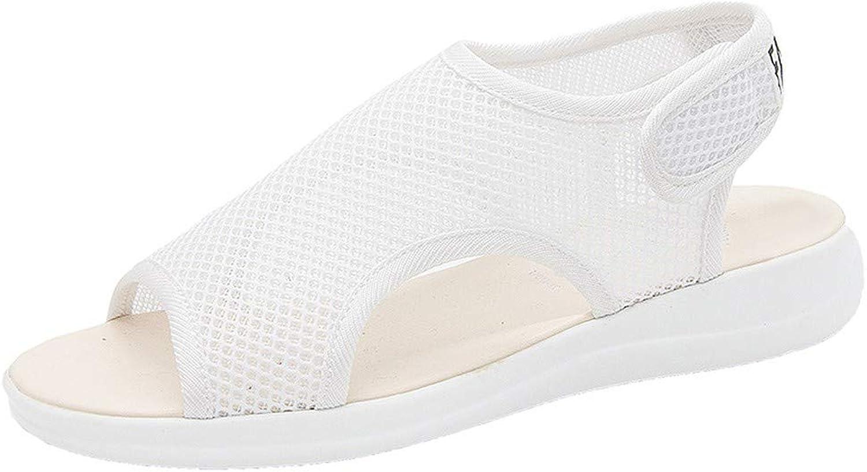 DBQWTY Ladies'Summer Low-Heeled Mesh Sandals Outdoor Walking shoes