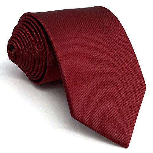 shlax&wing Color Sólido Rojo Boda Seide Krawatte Herren Dünne Tie 6cm