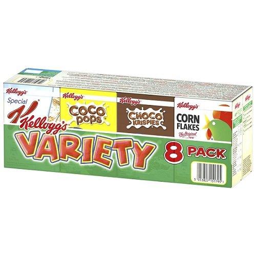 Kellogg\'s Variety 8 Pack 202g - verschiedene Portionspackungen