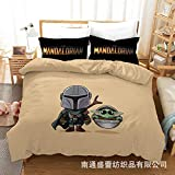 Vampsky Anime americanos -Star Wars: Ropa de cama de los Niños mandaloriana...