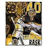 NHL Boston Bruins Tuukka Rask Players Silk Touch Throw Blanket, 50' x 60'