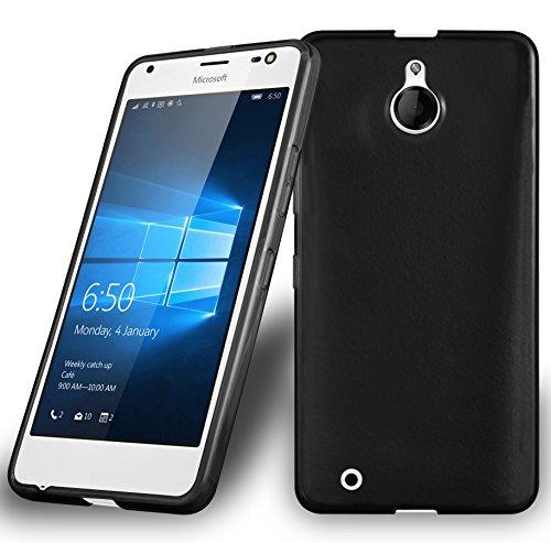 Preisvergleich Produktbild Cadorabo Hülle für Nokia Lumia 850 - Hülle in SCHWARZ Handyhülle aus TPU Silikon im Ultra Slim 'AIR' Design - Silikonhülle Schutzhülle Soft Back Cover Case Bumper