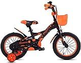 LIUXR Bicicletas Infantiles niña niño 3-9 años Freestyle 16 18 Pulgadas Ruedas auxiliares Bicicleta para niños,Yellow_16inch
