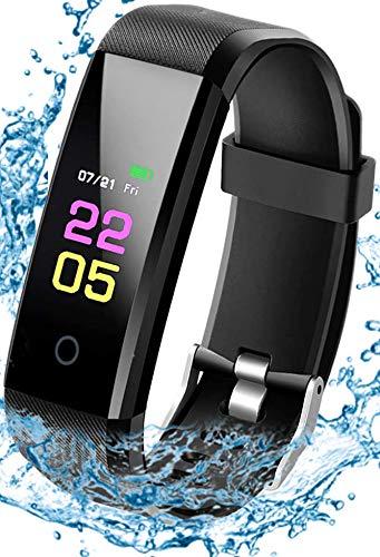 xiaozhi - Pulsera de fitness con pulsómetro, resistente al agua IP68, reloj deportivo con podómetro, monitor de sueño, calorías, relojes inteligentes de 0,96 pulgadas.