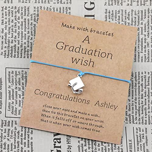 SONGK Pulsera con dijes, Pulsera de Deseo de graduación, Gorra de zanjadora, Gorra Cuadrada de Universidad, Pulsera, Mujeres, Hombres, Regalo de graduación